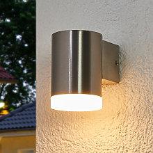 Lámpara LED de pared exterior Eliano, luz descend.
