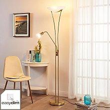 Lámpara LED de pie Felicia, luz lectura, atenuable