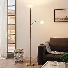 Lámpara LED de pie Jost + lámp. lectura latón