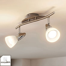Lámpara LED de techo Cora, easydim, 2 luces