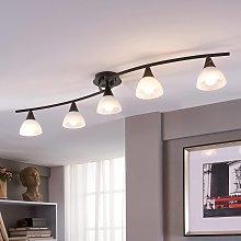 Lámpara LED de techoDella alargada, 5luces
