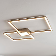 Lámpara LED de techo Duetto, cuadrados