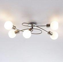 LámparaLED de techoElaina, 5 luces, níquel
