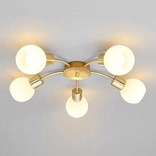 LámparaLED de techoElaina con 5 luces, latón