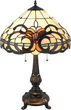 Lámpara mesa 5924 pantalla vidrio estilo Tiffany