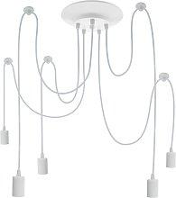 Lámpara para 5 bombillas de rosca E27 vintage con
