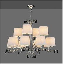 Lámpara para grandes estancias ANDREA 12 L. cromo