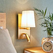 Lámpara pared Aiden luz lectura LED latón antiguo