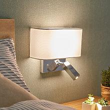 Lámpara pared LED Virve, luz lectura y puerto USB