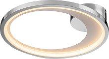Lámpara plafón 43 cm Ø cromo LARIS LED