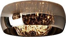 Lámpara plafón 50 cm Ø acabado cromo y cristal