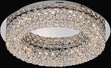 Lámpara plafón circular elegante CRYSTAL LED