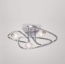 Lámpara plafón de diseño cromo LUX