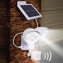 Lámpara solar de pared Maex con sensor, 2 brazos