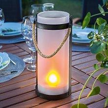 Lámpara solar Jasmin con efecto de llama