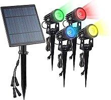 Lámpara solar para césped, foco de suelo, LED,