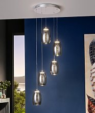 Lámpara techo dimable LED 5 luces NEBULA