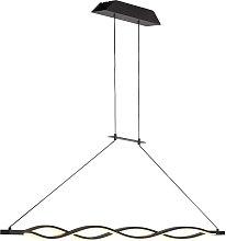 Lámpara techo grande LED dimmable forja SAHARA