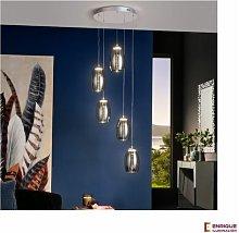 Lámpara techo led de salón 5 luces Nébula
