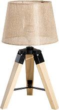 Lámpara trípode de mesa de madera Homcom