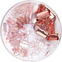 Langray - 1 juego de clips de papel de oro rosa,
