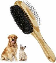 Langray - Cepillo de aseo para mascotas de doble