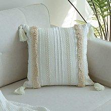 Langray - Funda de cojín con pompón Luxe, sofá