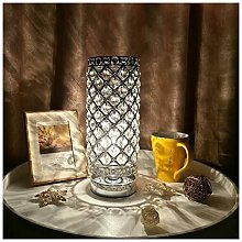 Langray - Lámpara de cristal, lámpara de noche
