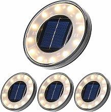 Langray - Lámpara de pie solar LED, paquete de 4,