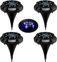 Langray - LED Solar Lawn Light ? 8 LED 4 Pack Spot