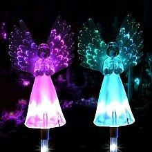 Langray - Luz solar de ángel, paquete de 2 luces