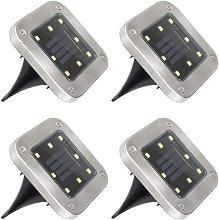 Langray - Luz solar para exteriores, 8 LED, 4
