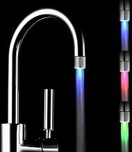 Langray - Paquete de 2 grifos de agua LED