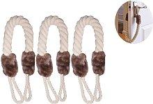 Langray - Topes de puerta de cuerda, paquete de 3