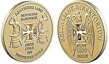 Lankater 1pc Alemán Imperial Banco Baño De Oro