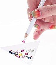 Lápiz de punteado para uñas con diamantes de