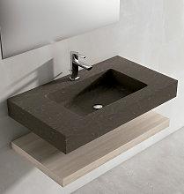 Lavabo de Viso Bath sobre encimera Piedra