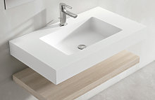 Lavabo suspendido de Viso Bath de Solid Surface