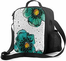 Lawenp Tote Lunch Bag Colorido Hermosa Flor