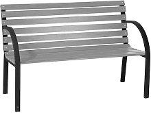 LDK - Banco de acero/madera cedro gris jardín