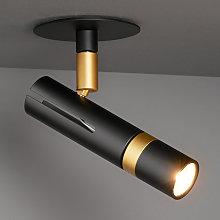 LDM Kyno foco LED dosel empotrado negro/ oro