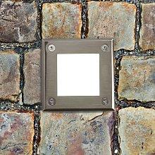 LED-18 - cuadrado foco de suelo LED empotrado