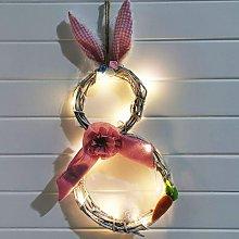LED 48 x 25 cm, guirnalda de Pascua con guirnalda
