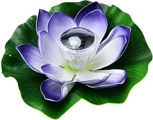 LED alimentadas por energia solar Lotus luz de