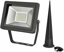 LED Foco estaca, 20W, 1600lúmenes, IP65,