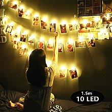 LED Foto Clips Cadena de Luces, Morbuy Guirnalda