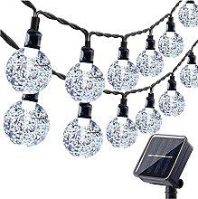 LED Guirnaldas Luces Exterior Solar, Blanco Cadena
