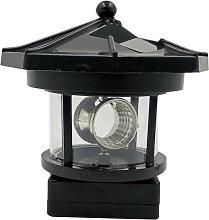 LED luces solares de jardin rotatoria y luces de