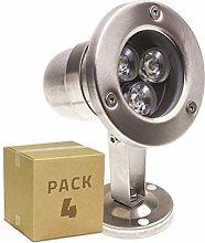 LEDKIA LIGHTING Pack Foco LED Inox de Superficie