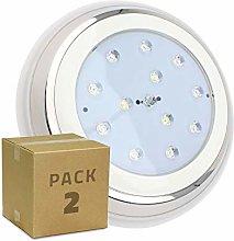 LEDKIA LIGHTING Pack Foco Piscina LED Inox